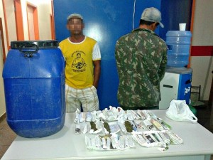 Dupla foi presa em Tapauá, no interior do Amazonas. Foto: Divulgação/ Polícia Civil