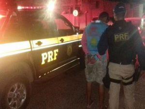 Homem foi encaminhado até a delegacia de Uauá, na Bahia. Foto: Divulgação / PRF