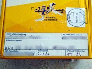 Pacote foi encaminhado por um morador de Landri Sales, no Piauí, para Cuiabá. Foto: Batalhão Ambiental