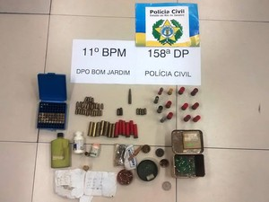 Municções foram encontradas na casa do acusado (Foto: Polícia Civil/Divulgação)