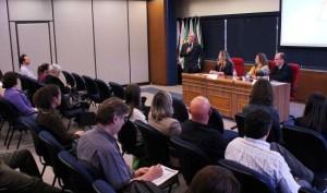 Palestra, aberta ao público, contou com presença de representantes do Ibama, da Sema, da Smam e do CRMV-RS. Foto: Divulgação
