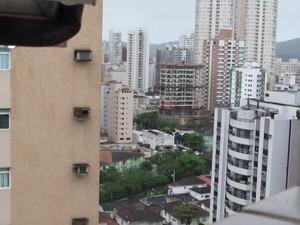 Ninho foi feito no 20º andar de prédio de Santos. Foto: Marcos Vinicius Yog / Arquivo Pessoal
