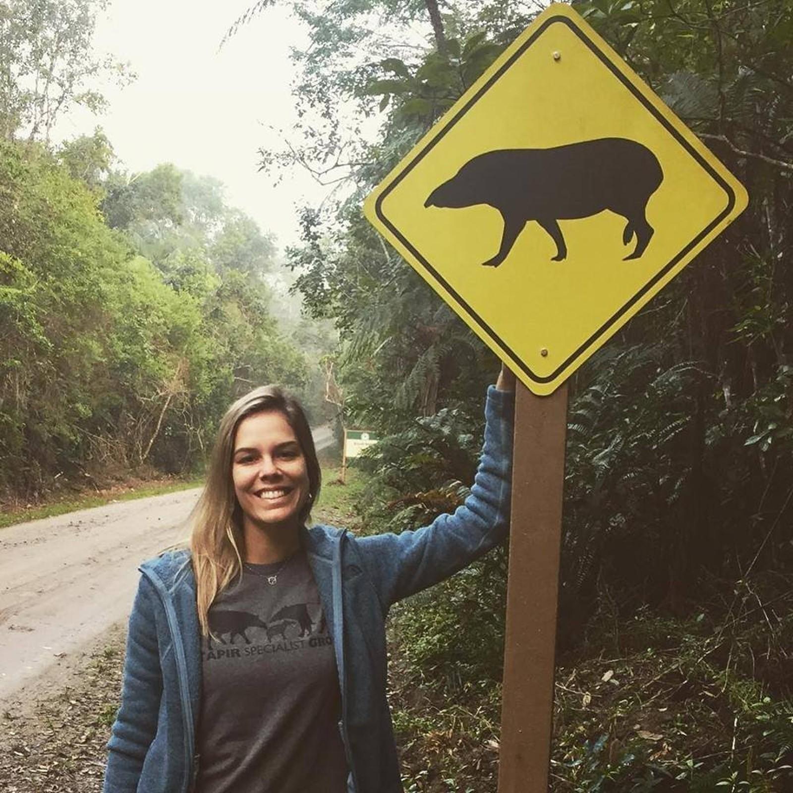 Trabalho desenvolvido por Fernanda Abra ajuda na conscientização dos motoristas: defesa da fauna — Foto: Arquivo Pessoal